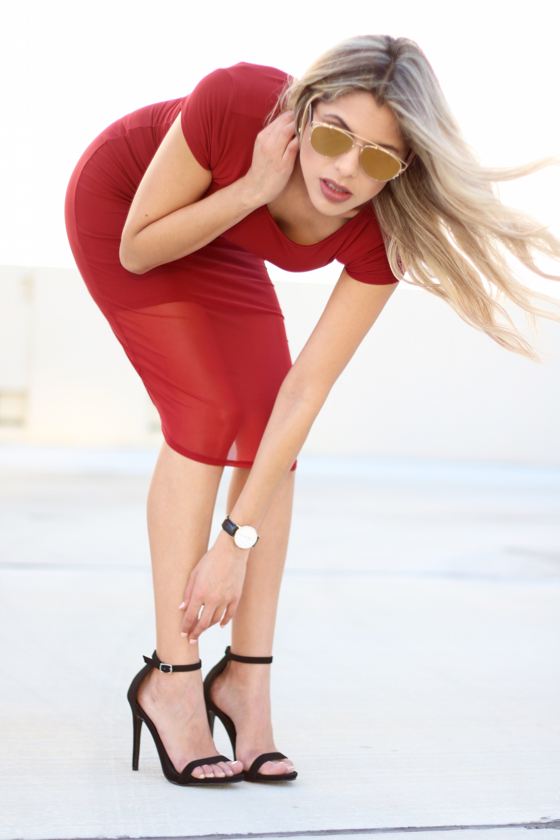 Sexy-red dress