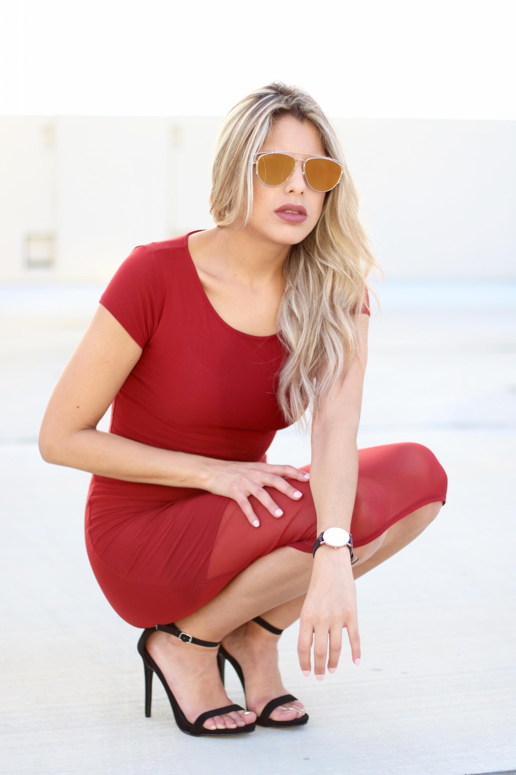 Valentines-red dress