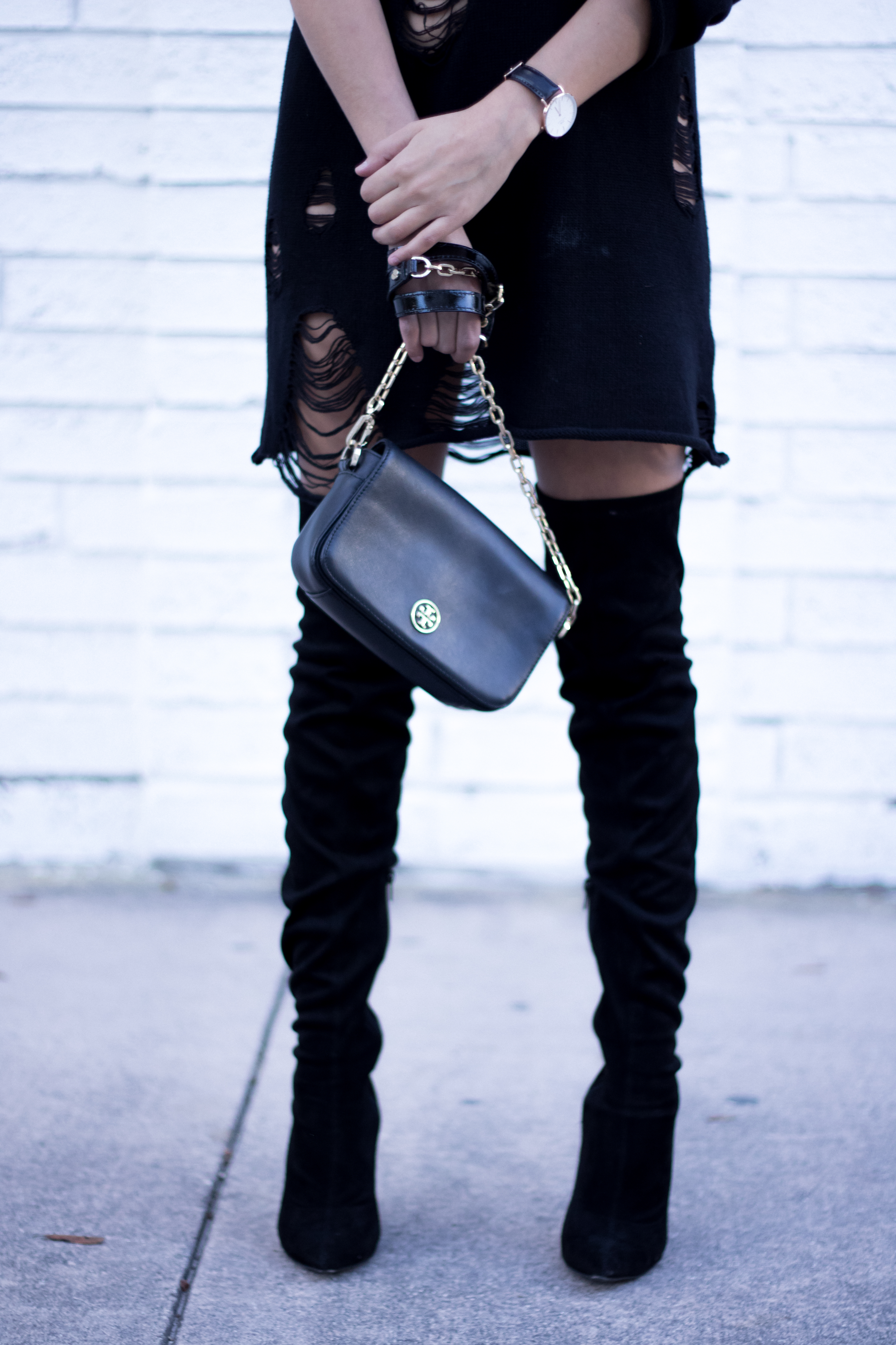 Suede-over the knee boots