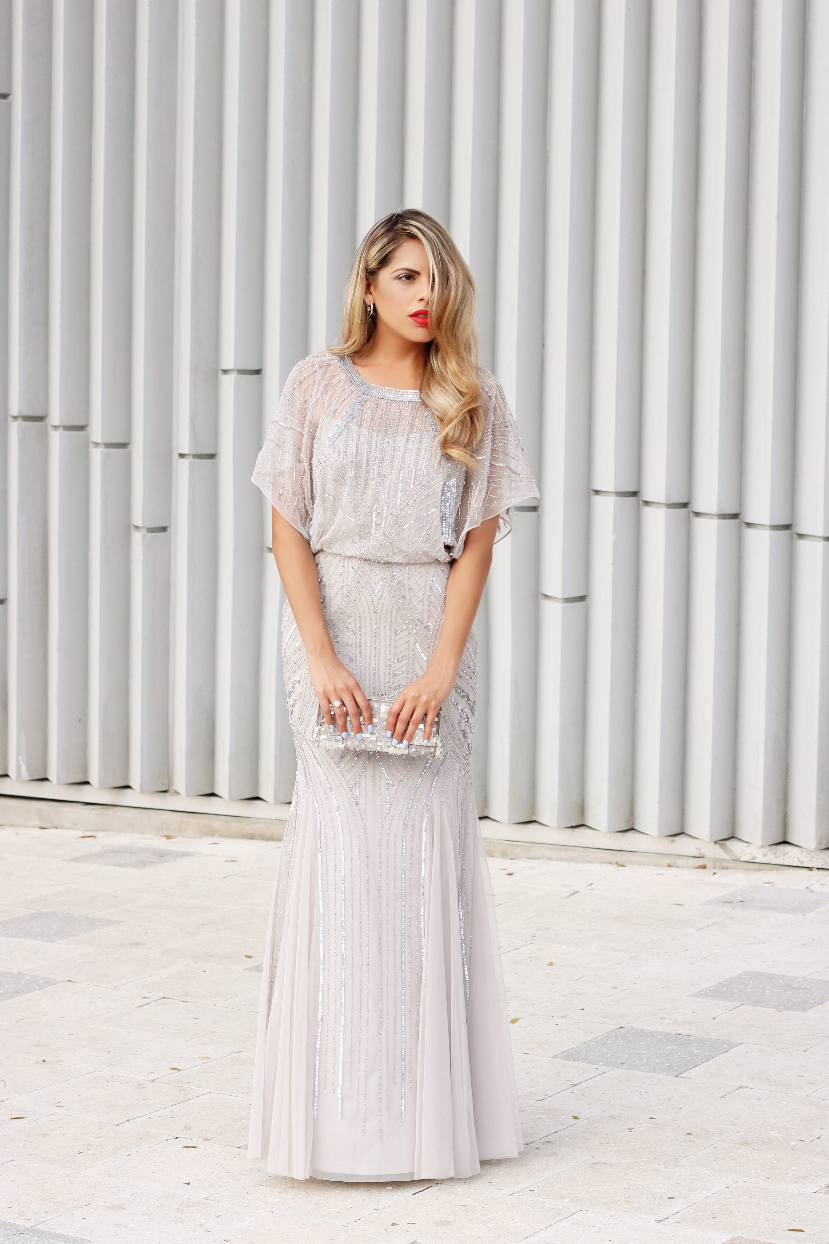Chiffon-gown